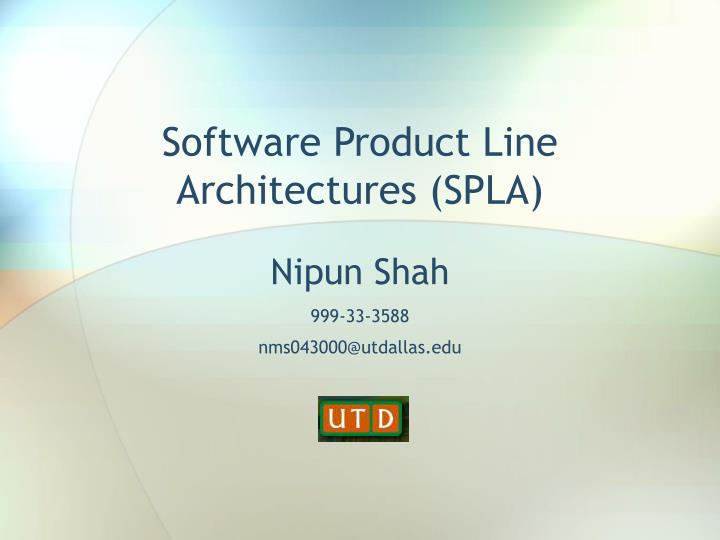 Software product line architectures spla