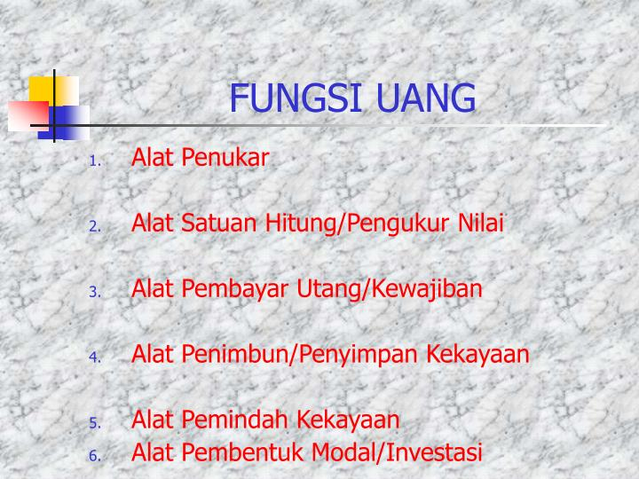 PPT - UANG DAN LEMBAGA KEUANGAN (IPS - SMP) PowerPoint ...