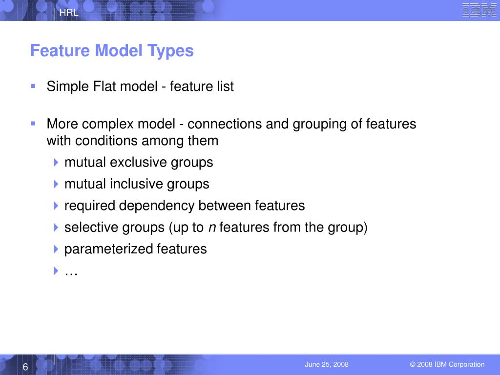 Feature Model Types