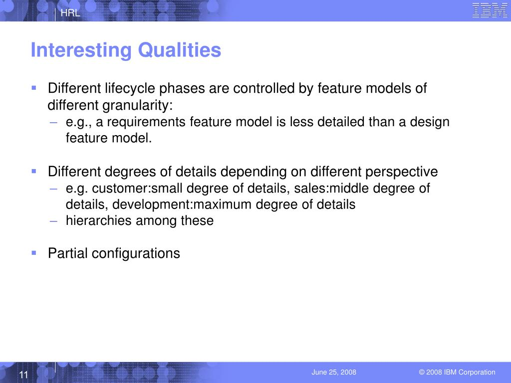 Interesting Qualities