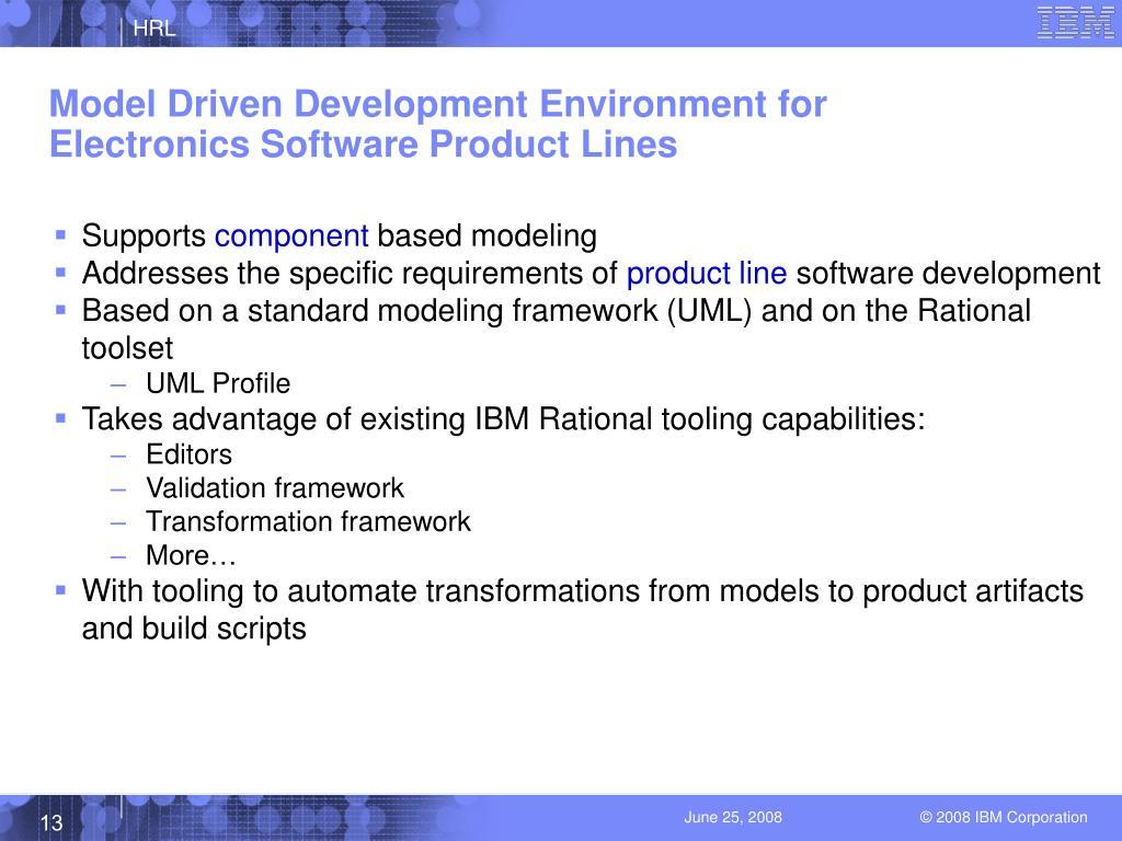 Model Driven Development Environment for