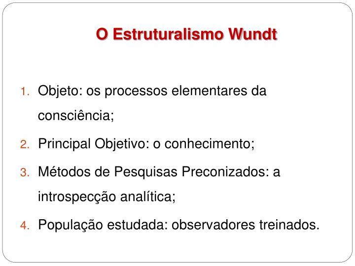 O Estruturalismo Wundt