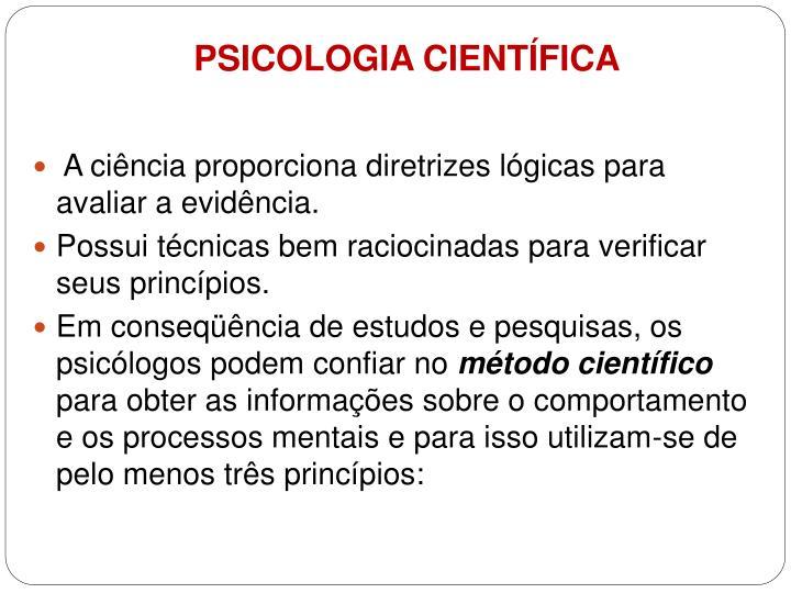 PSICOLOGIA CIENTÍFICA