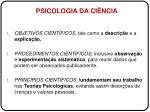 psicologia da ci ncia