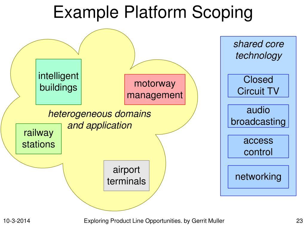 Example Platform Scoping