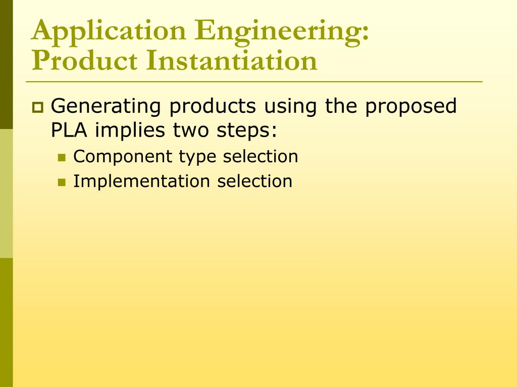 Application Engineering: