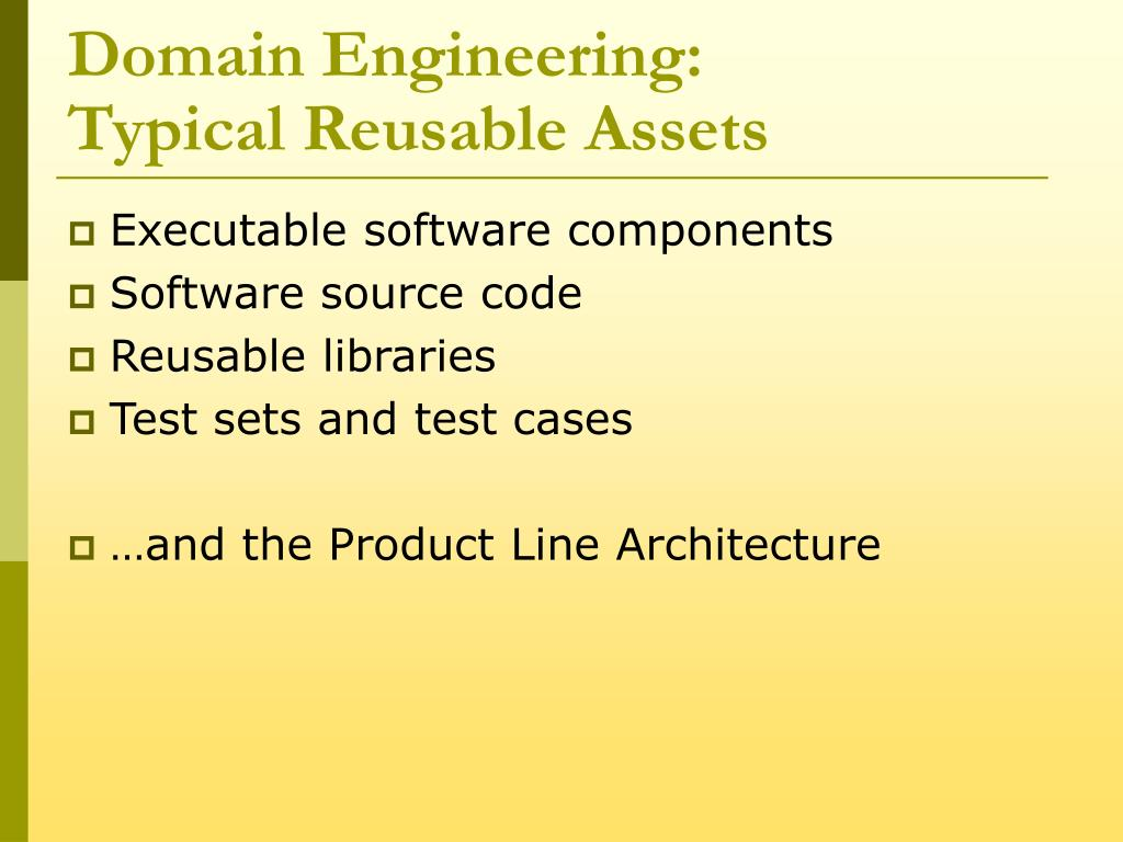 Domain Engineering: