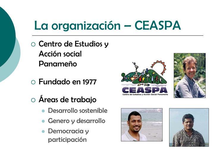 La organización – CEASPA