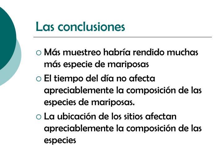Las conclusiones