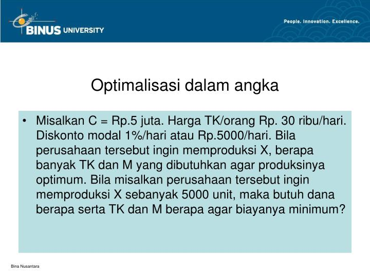 Optimalisasi dalam angka