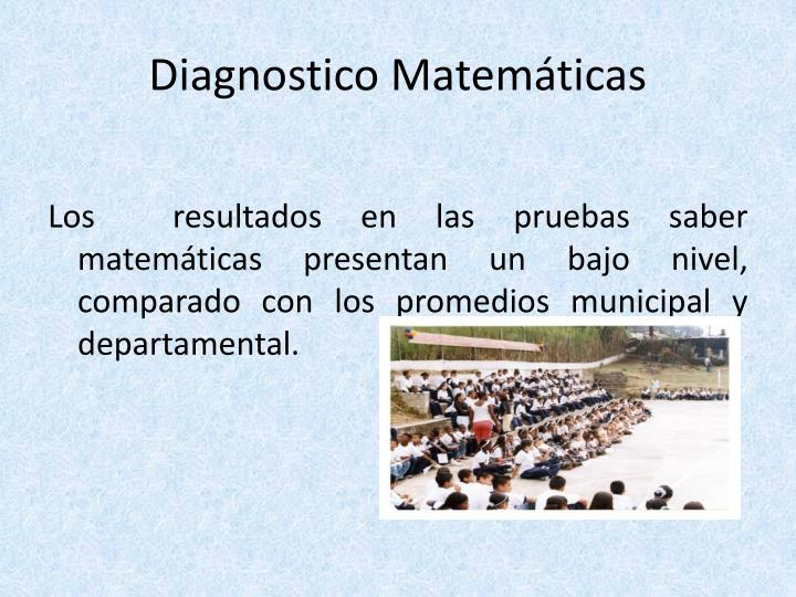 Diagnostico Matemáticas