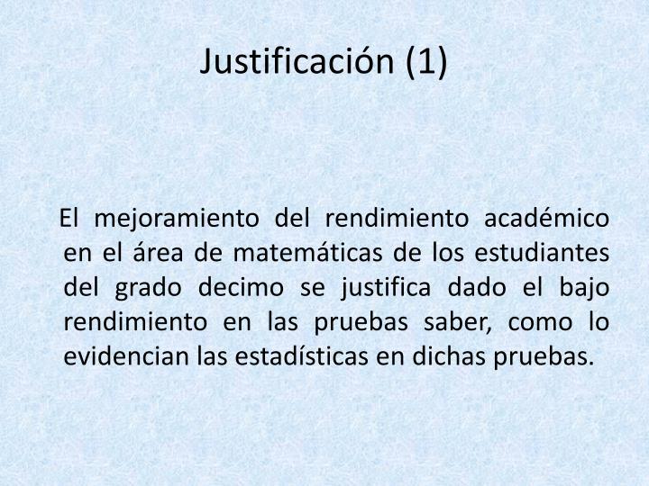 Justificación (1)