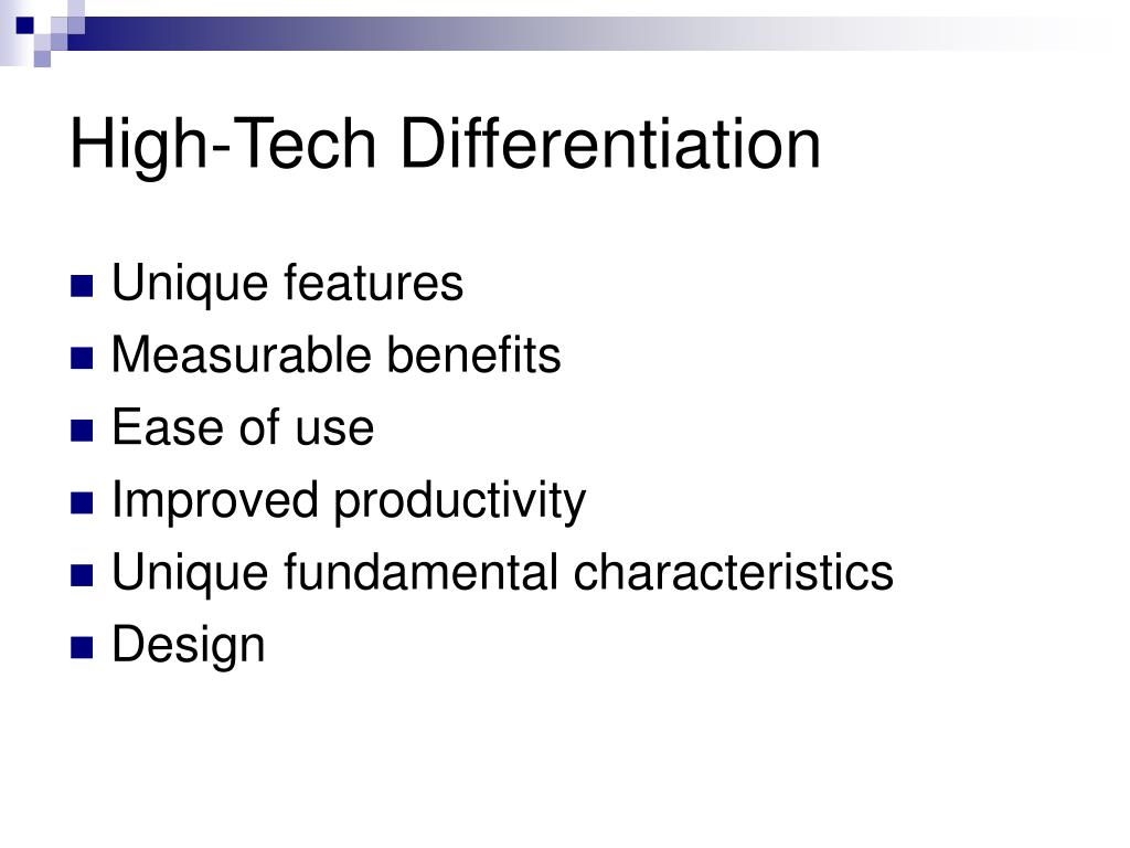 High-Tech Differentiation