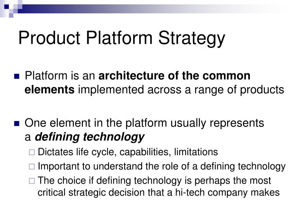Product Platform Strategy