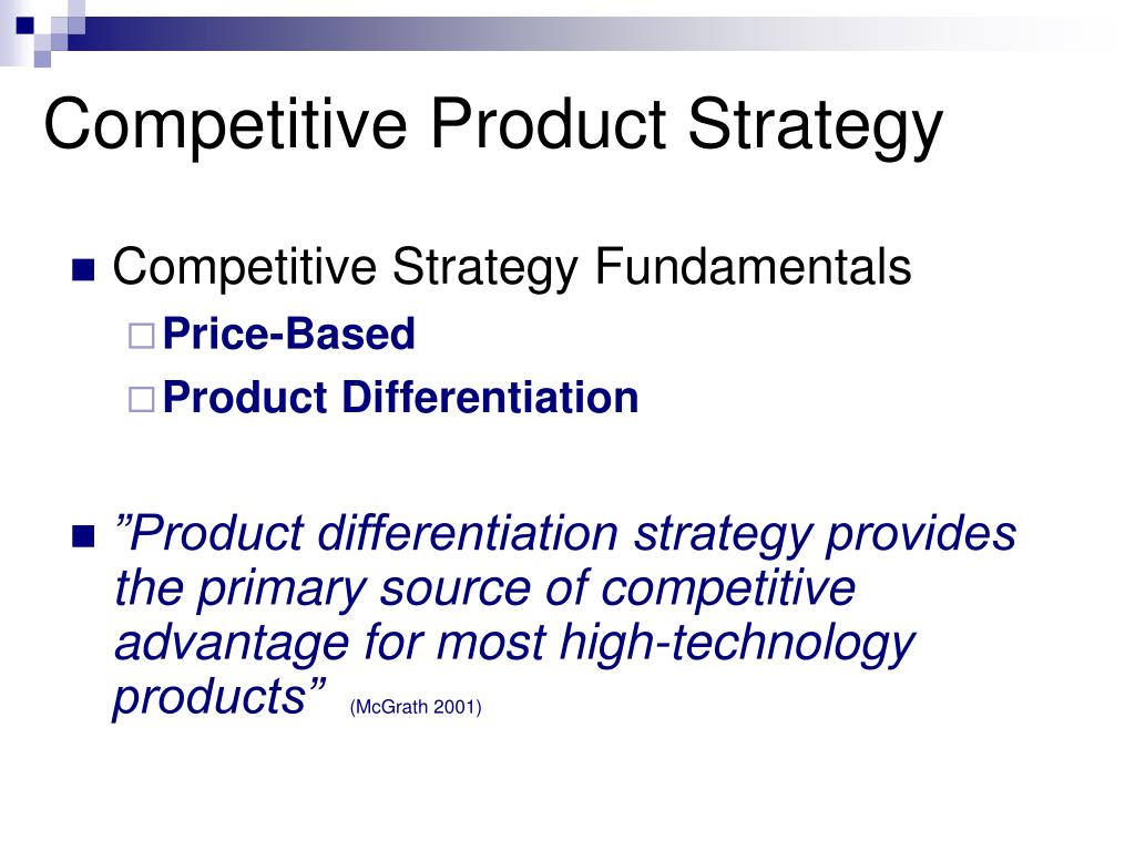 Competitive Product Strategy