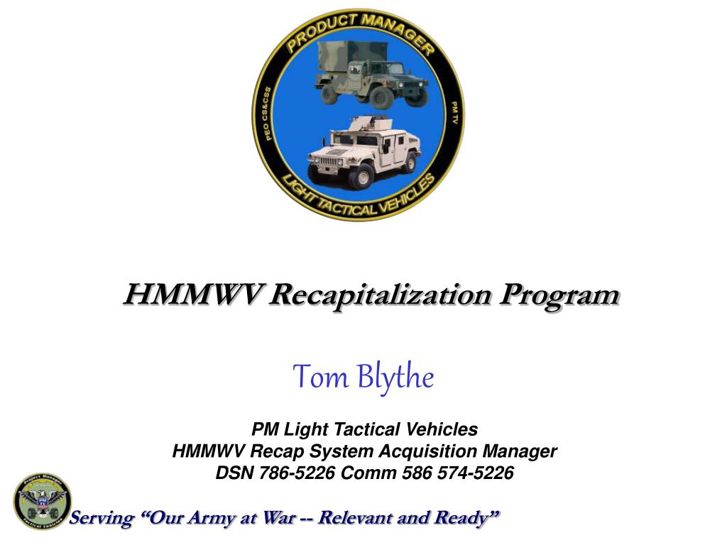 HMMWV Recapitalization Program