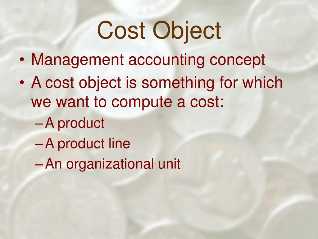 Cost Object