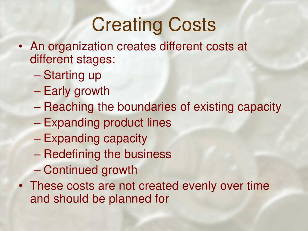 Creating Costs