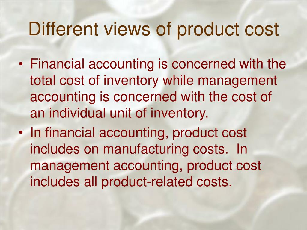 Different views of product cost
