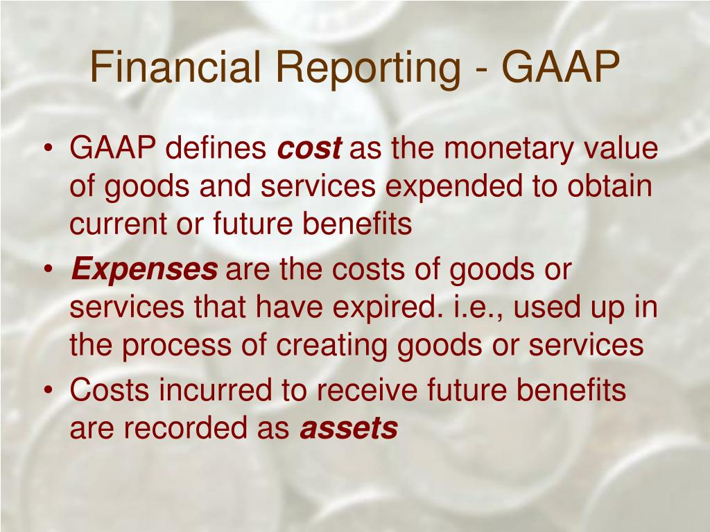 Financial Reporting - GAAP