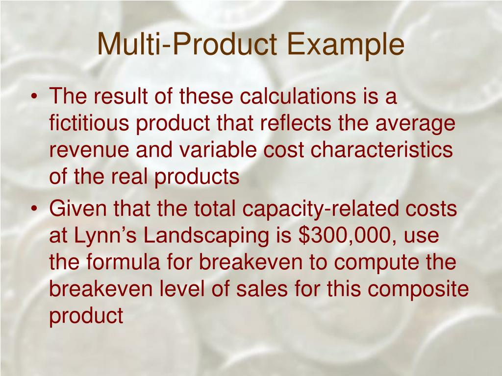 Multi-Product Example