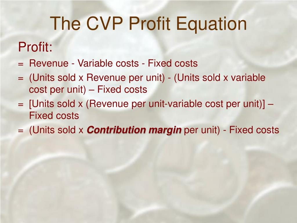 The CVP Profit Equation