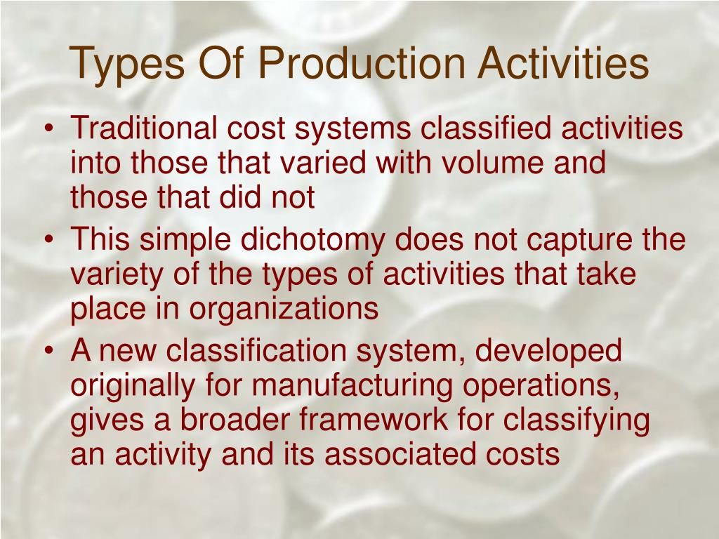 Types Of Production Activities