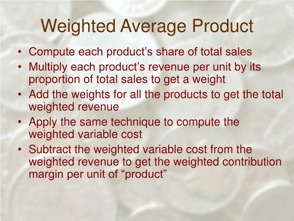 Weighted Average Product