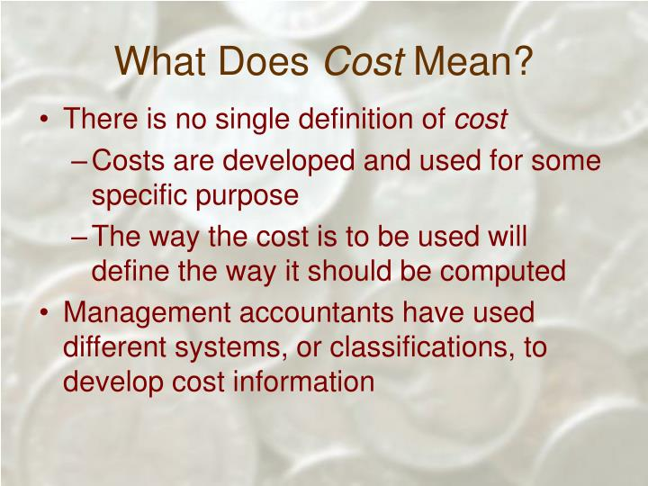 What does cost mean