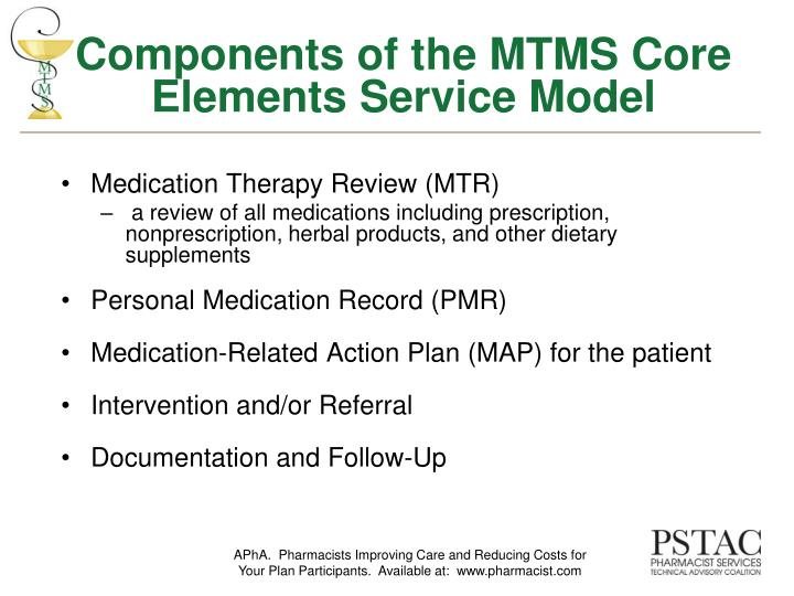 Components of the MTMS Core Elements Service Model