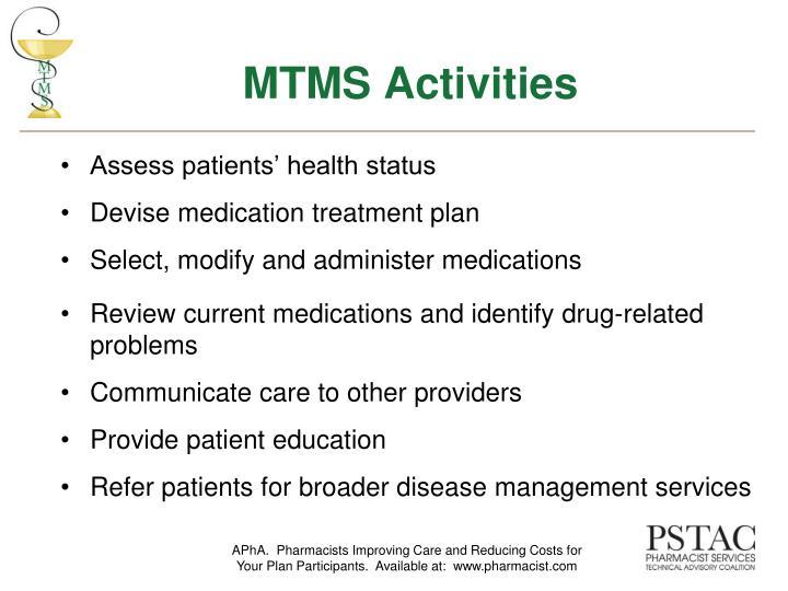 MTMS Activities
