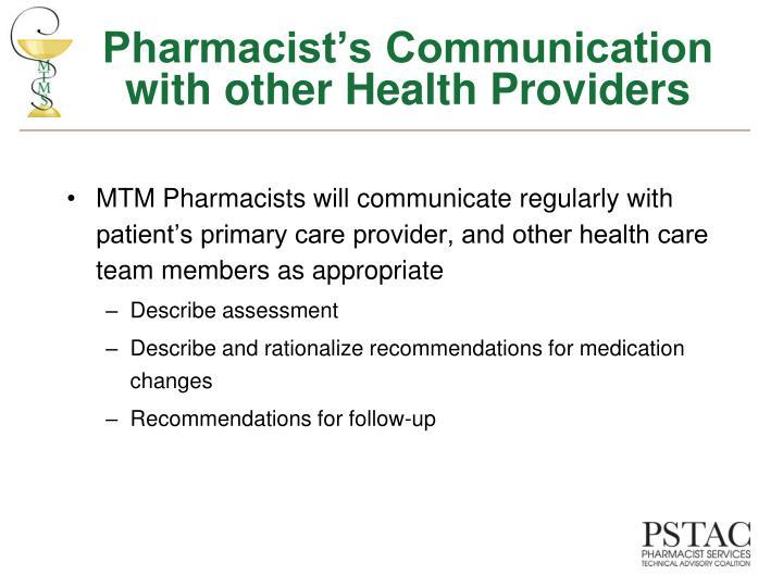 Pharmacist's Communication