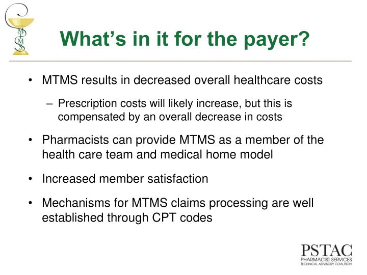 What's in it for the payer?