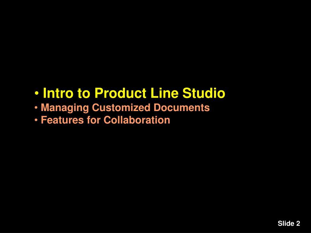 Intro to Product Line Studio