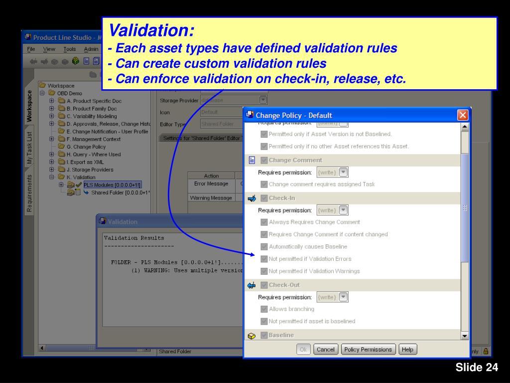 Validation: