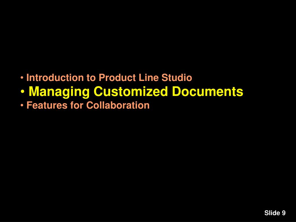 Introduction to Product Line Studio