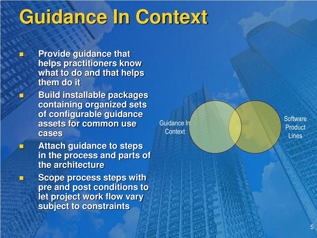 Guidance In Context