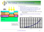 the leakage current measurement