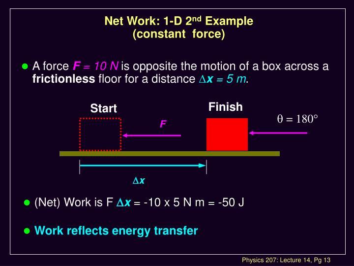 Net Work: 1-D 2