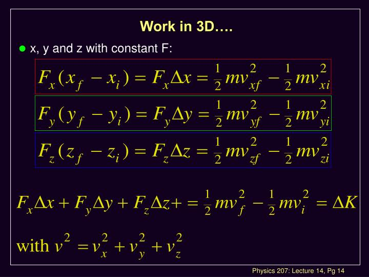 Work in 3D….