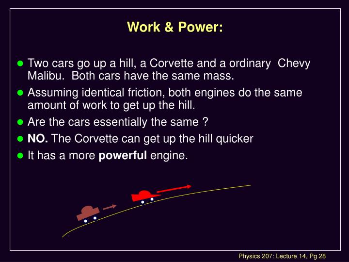 Work & Power: