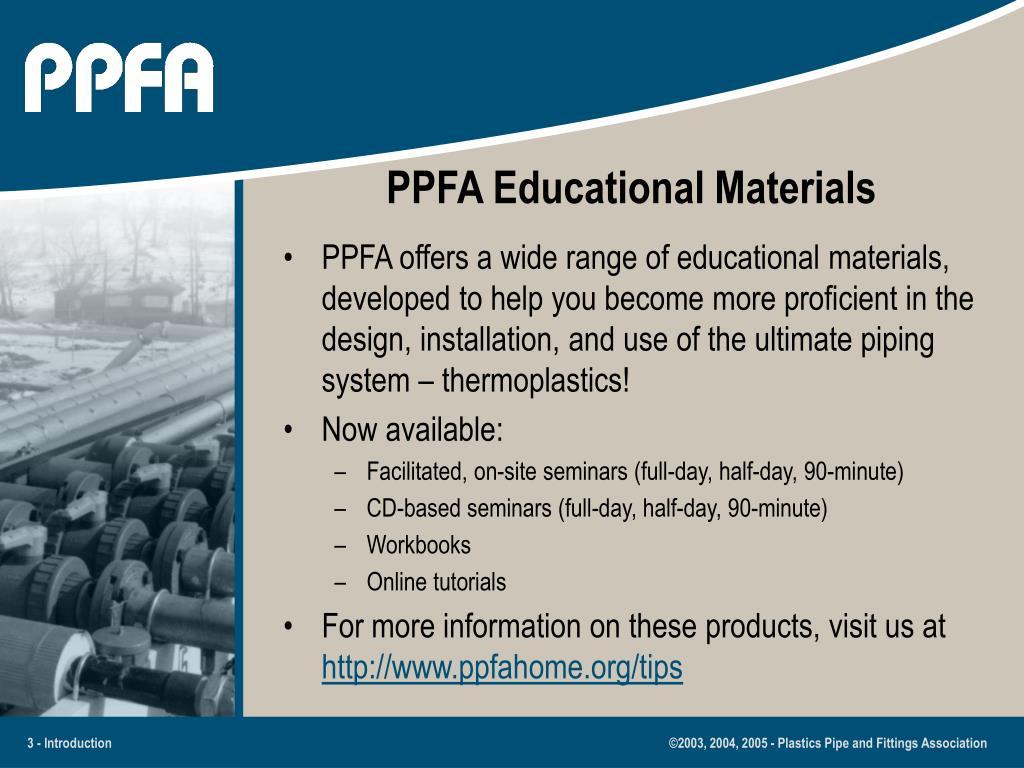 PPFA Educational Materials