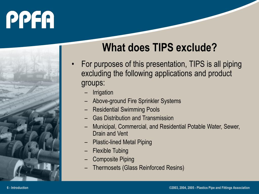 What does TIPS exclude?