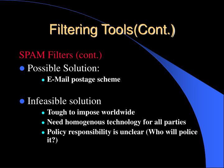 Filtering Tools(Cont.)