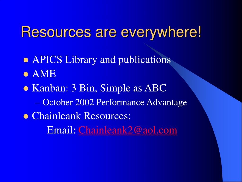 Resources are everywhere!