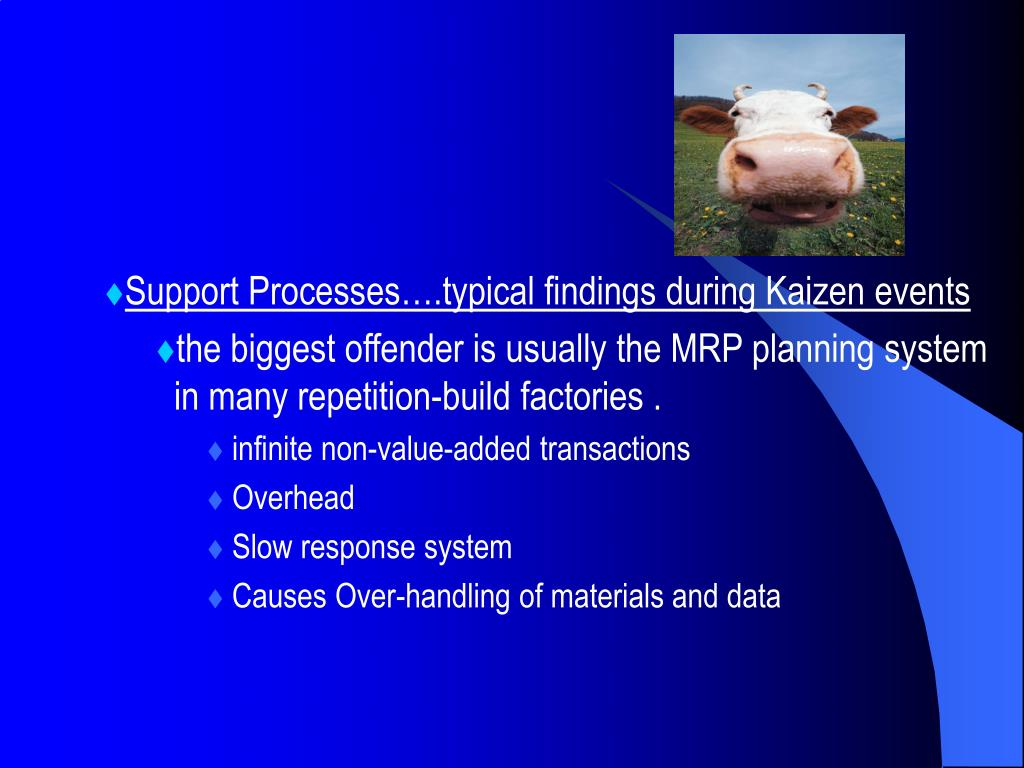 Support Processes….typical findings during Kaizen events