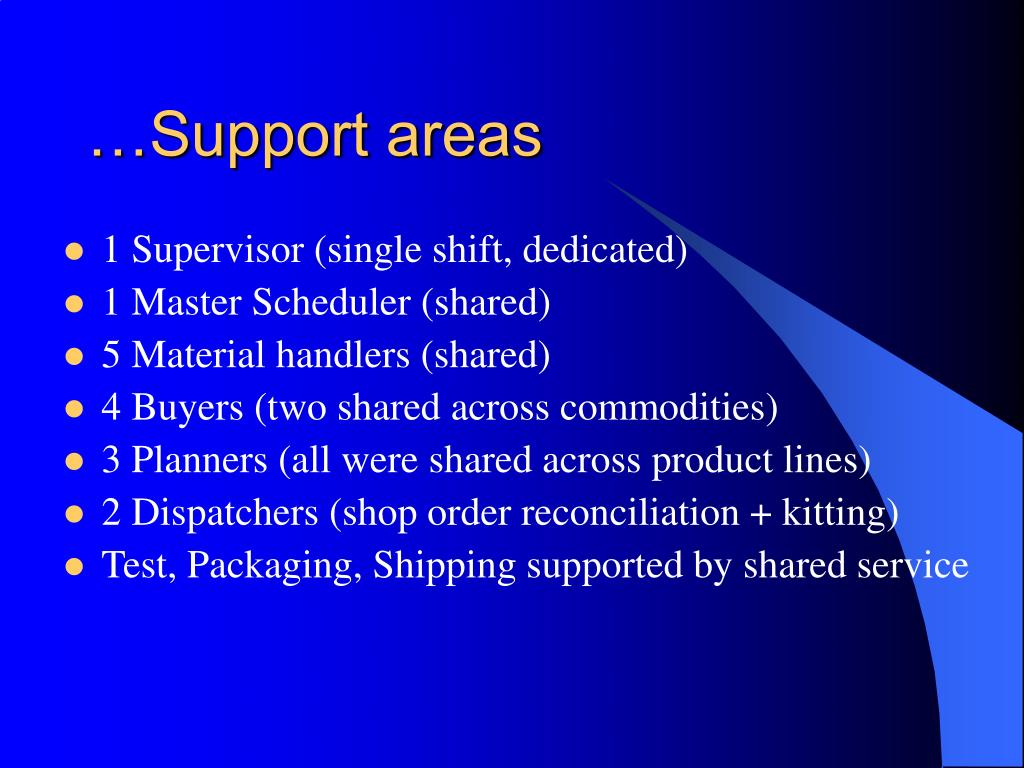 …Support areas