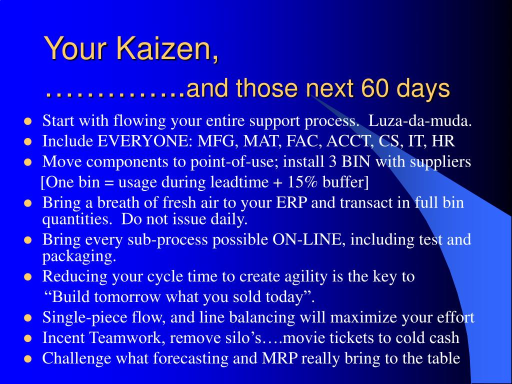 Your Kaizen,