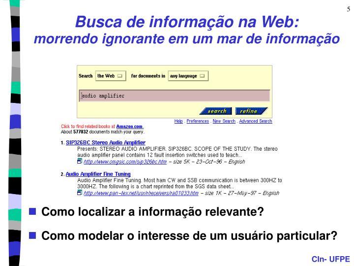 Busca de informação na Web: