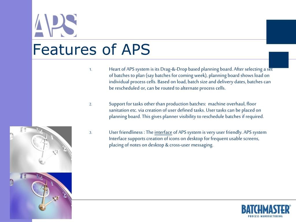 Features of APS
